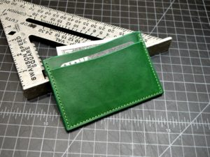 The Sherlock Front Pocket Wallet in Green Buttero