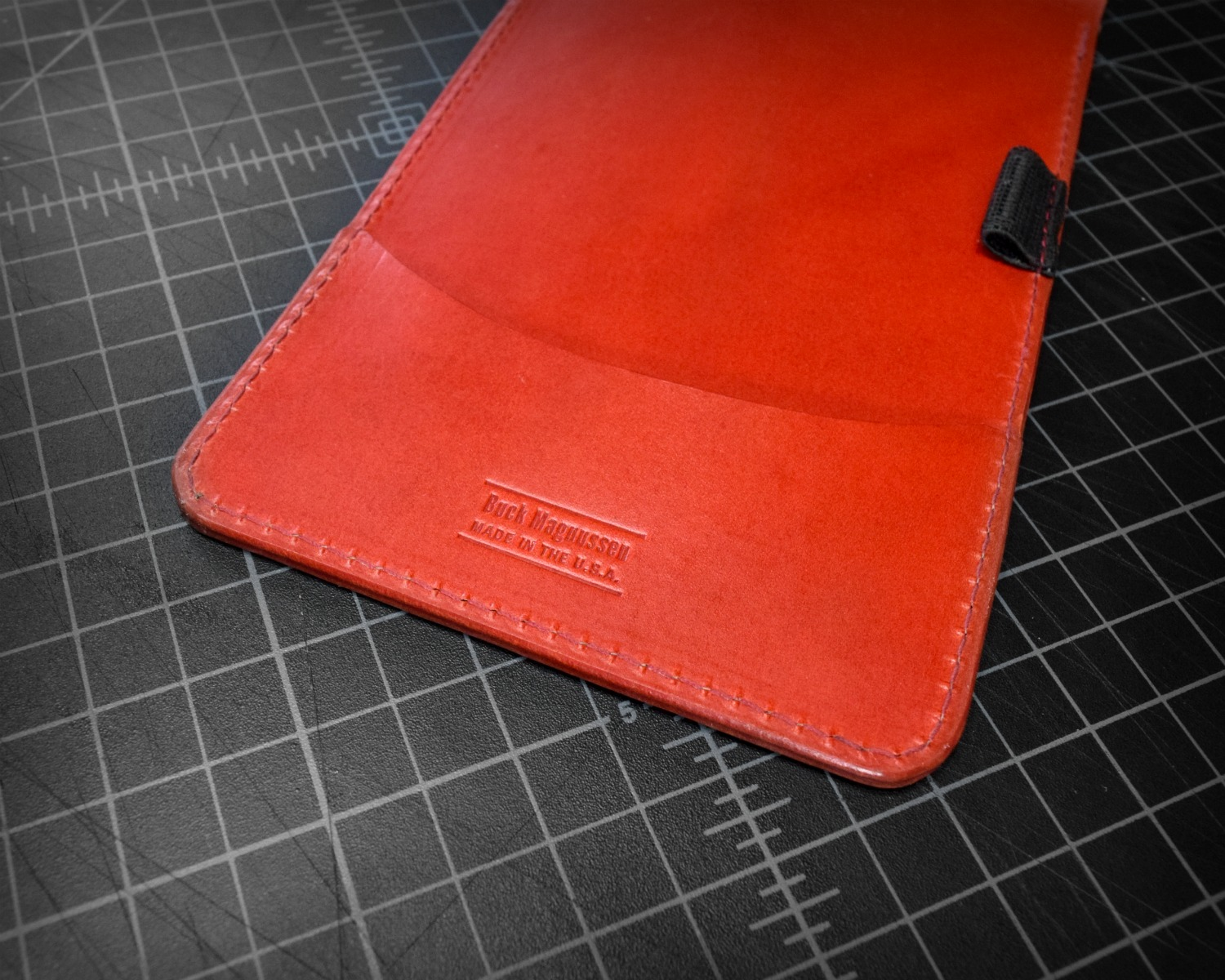 Scorecard Holder & Yardage Book Cover in Red