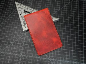 Pinehurst Scorecard Holder in Rustic Red
