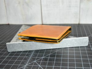 Classic Bifold in Rustic Gold & Black