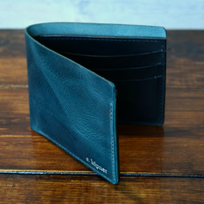 Classic Bifold Wallet in Turquoise and Black