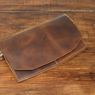 Hunt Long Wallet in Walnut