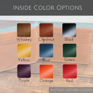 Wallet Inside Color Options
