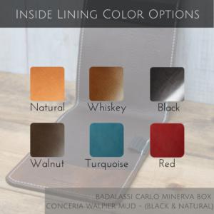 Pinehurst Inside Lining Colors